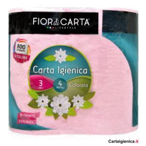 fior di carta colorata rosa carta igienica 1 pacco 4 rotoli