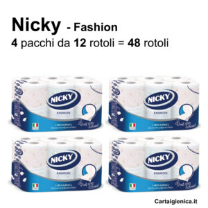 carta igienica nicky fashion 4 veli