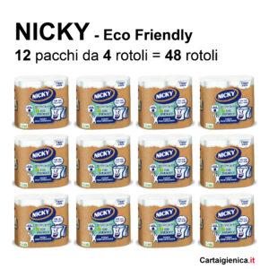 carta igienica nicky eco friendly ecologica 4 rotoli offerta promozione