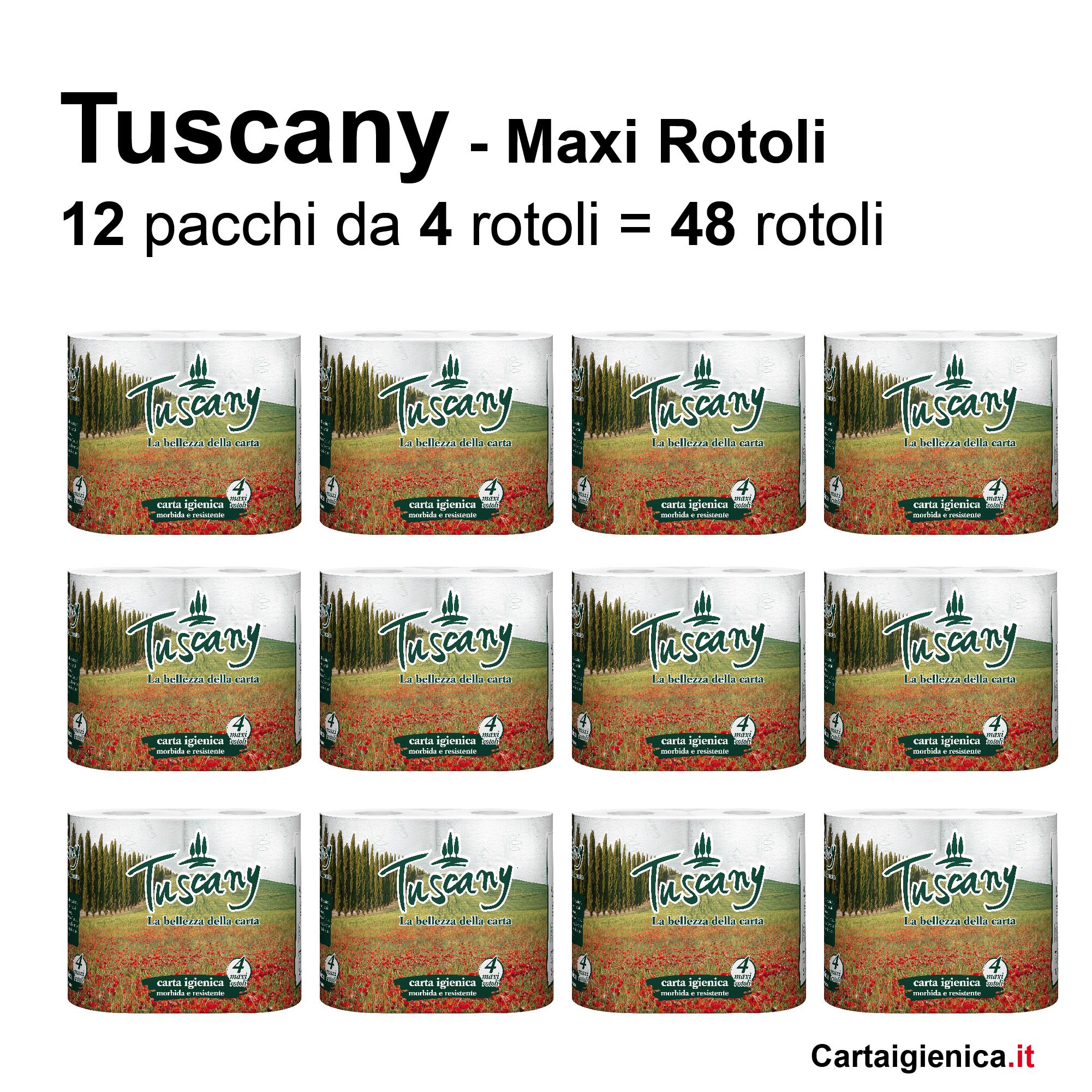 carta igienica tuscany maxi rotolo extra soffice