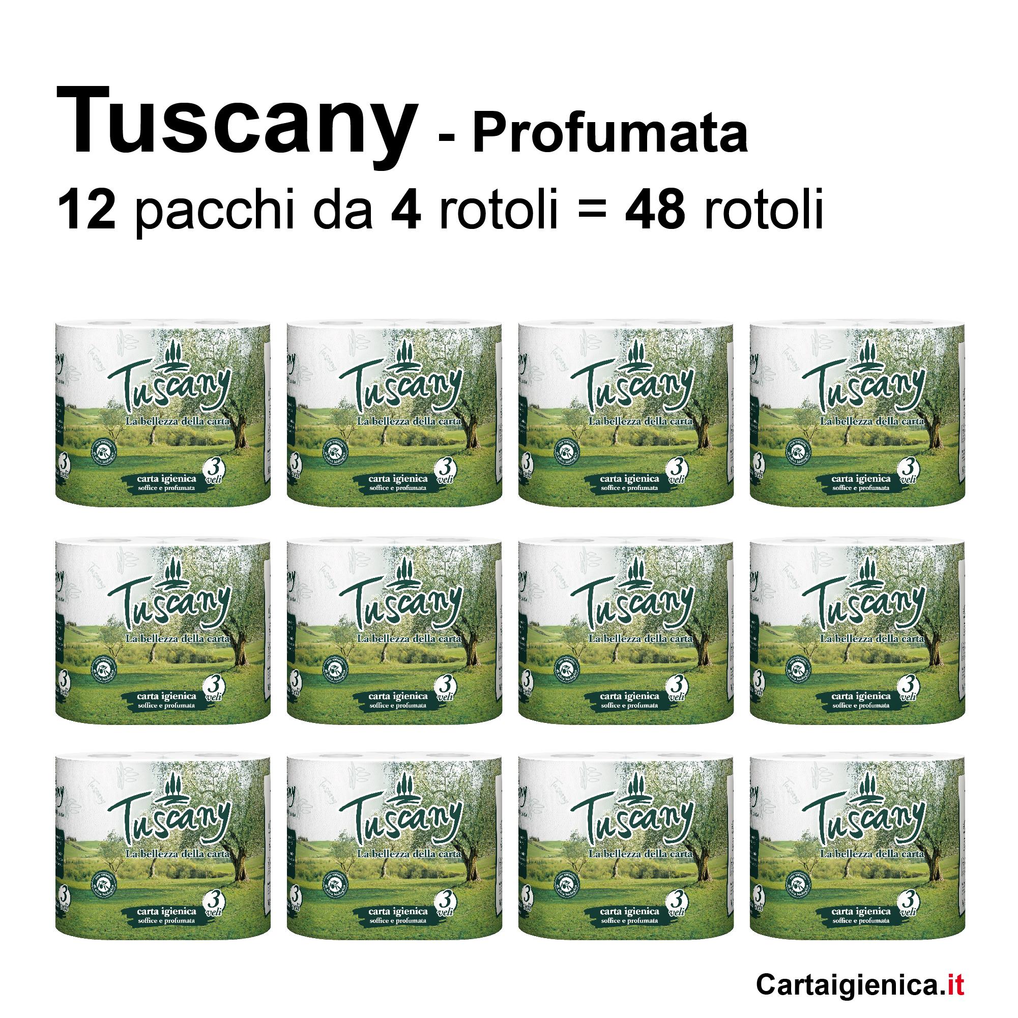 carta igienica tuscany profumata 4 rotoli offerta