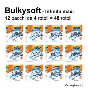 carta igienica bulkysoft infinita maxi 48 rotoli offerta