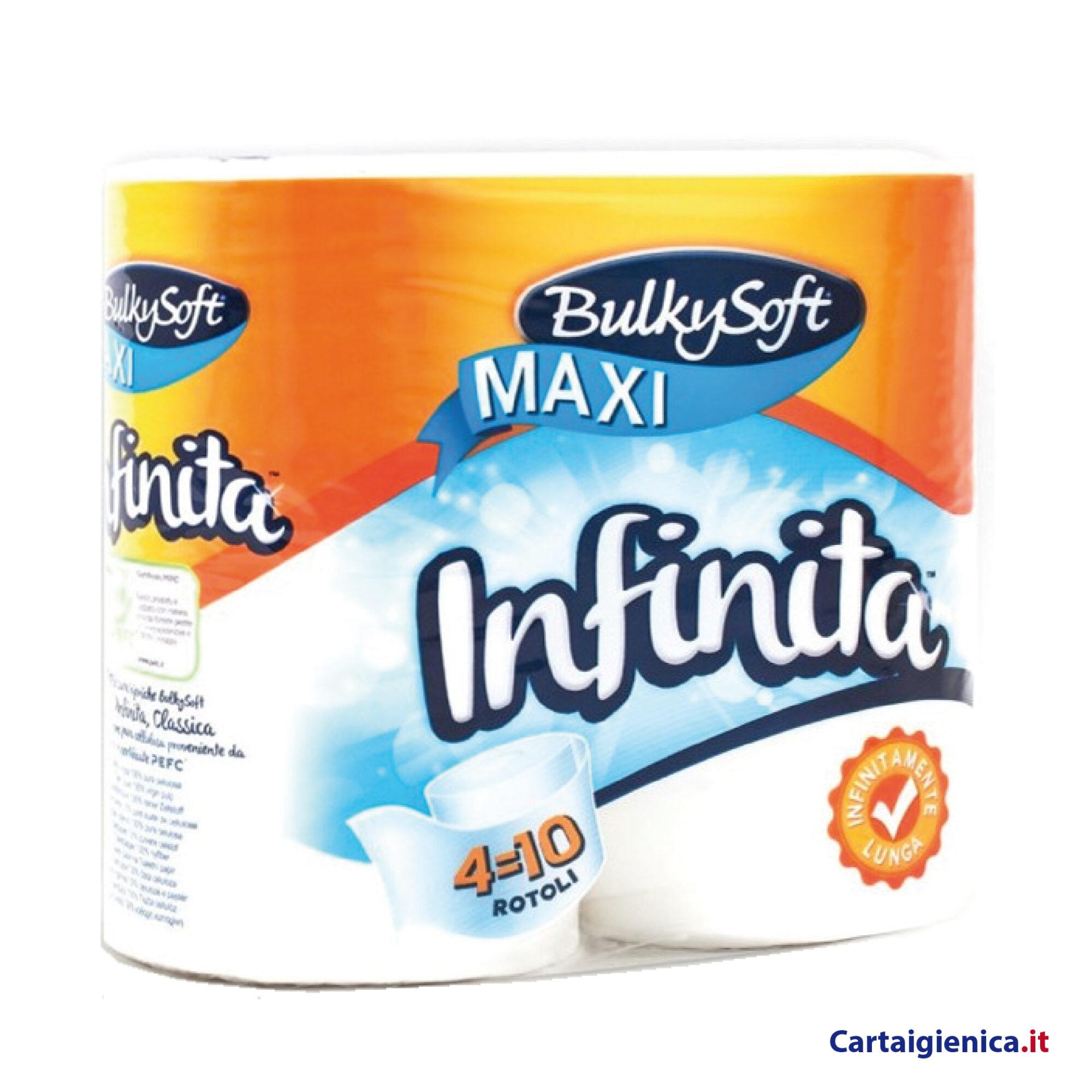 bulkysoft carta igienica infinita maxi 4 rotoli