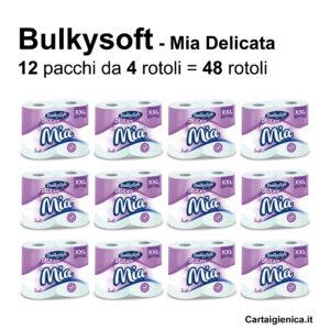 carta igienica bulkysoft mia delicata 4 rotoli offerta promozione
