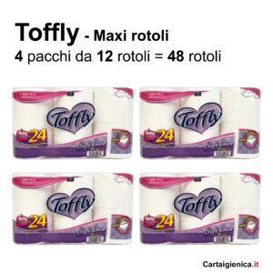 carta igienica toffly maxi rotolo soft care maxi offerta promozione