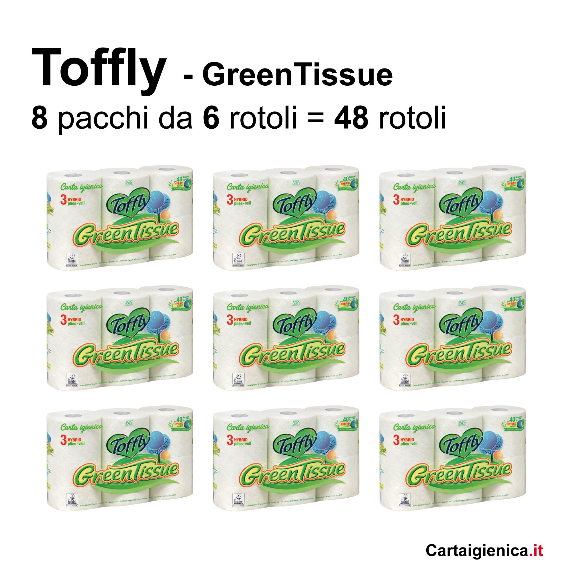 toffly carta igienica green 48 rotoli