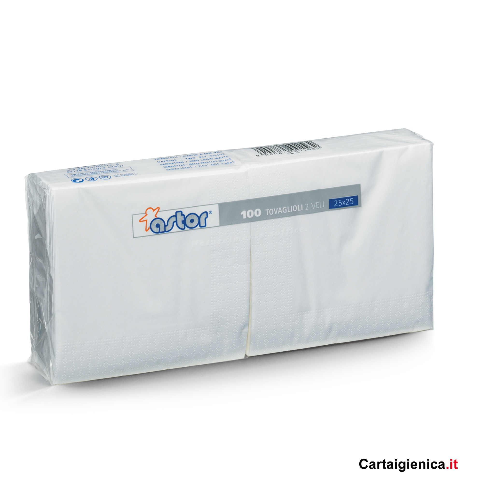 Astor tovaglioli di carta 25x25 100 pezzi bianchi