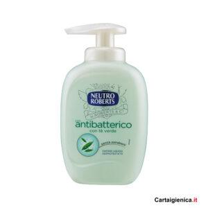 Neutro Roberts sapone liquido antibatterico te verde 300ml