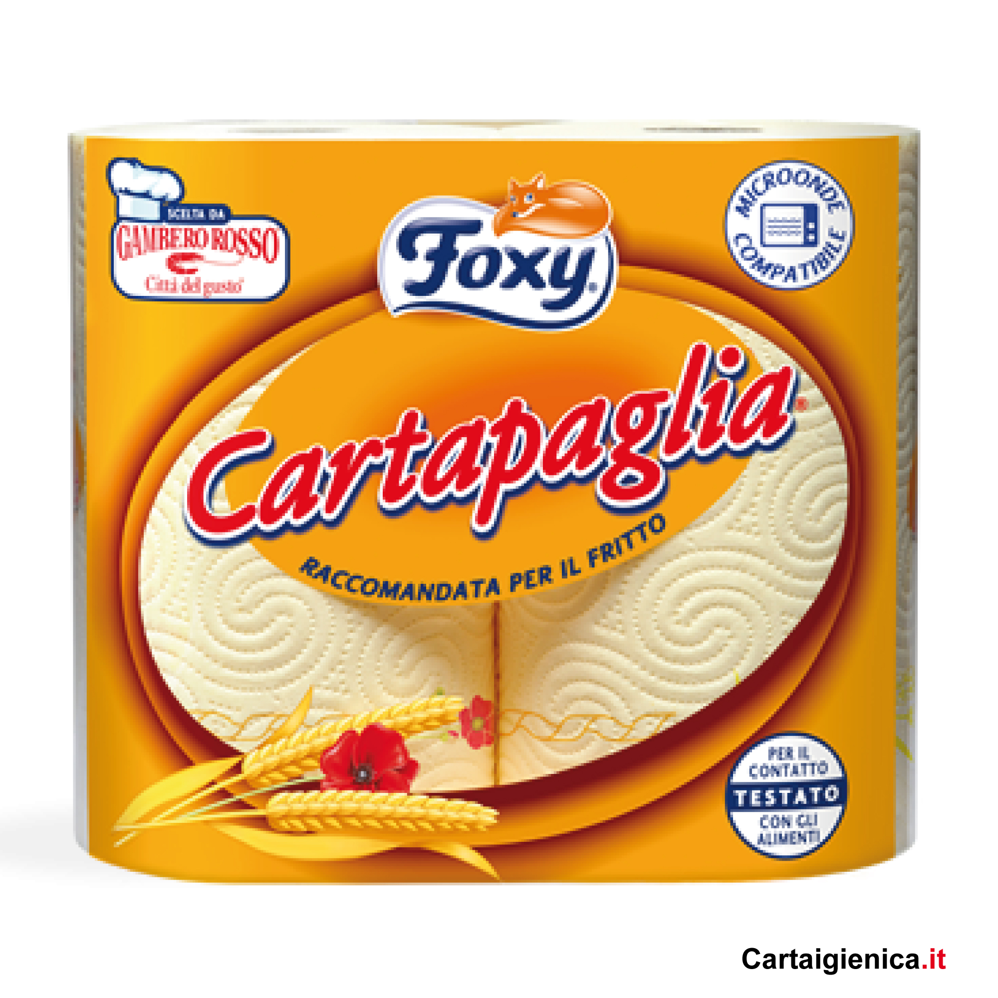foxy cartapaglia carta cucina 1 pacco 2 rotoli offerta
