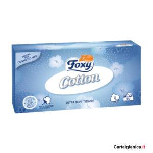 foxy cotton veline fazzoletti di carta in scatola