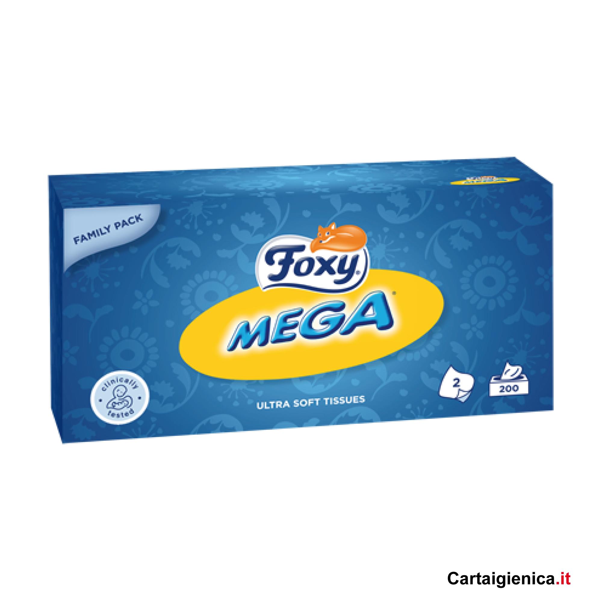 foxy mega fazzoletti veline scatola pacco famiglia