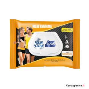 fresh clean salviette umidificate sport 1 pacco offerta