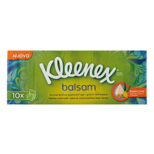kleenex fazzoletti balsam 10 pacchetti