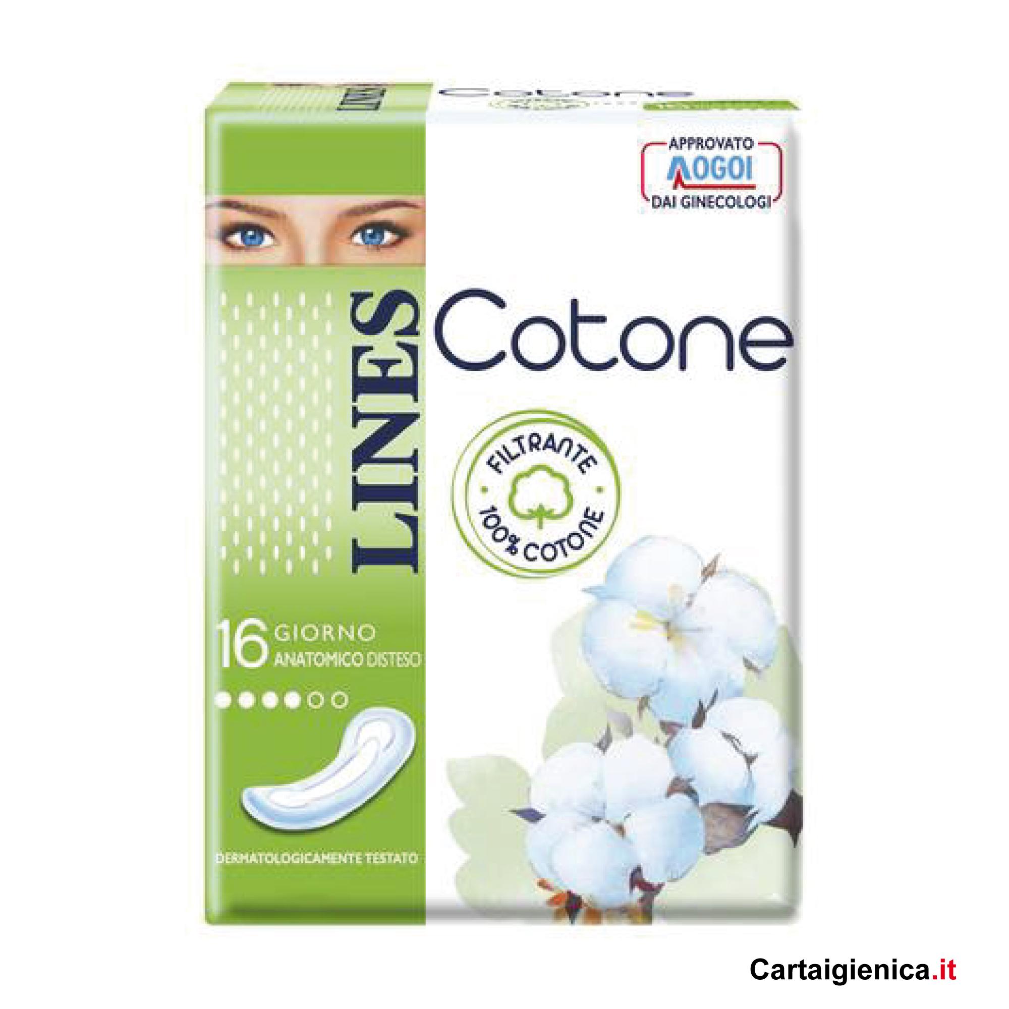 lines cotone giorno 16 assorbenti distesi