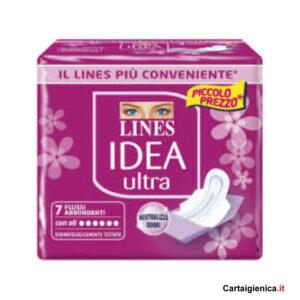 lines idea ultra 1 pacco 7 assorbenti con ali
