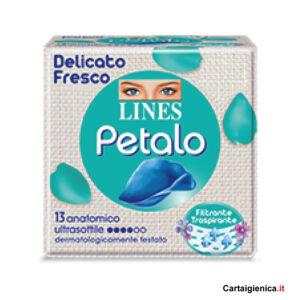 lines petalo delicato fresco anatomico ultrasottile 1 pacco 13 assorbenti