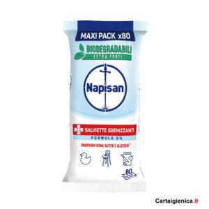 Napisan salviette igienizzanti formula zero maxi pack 80 pezzi