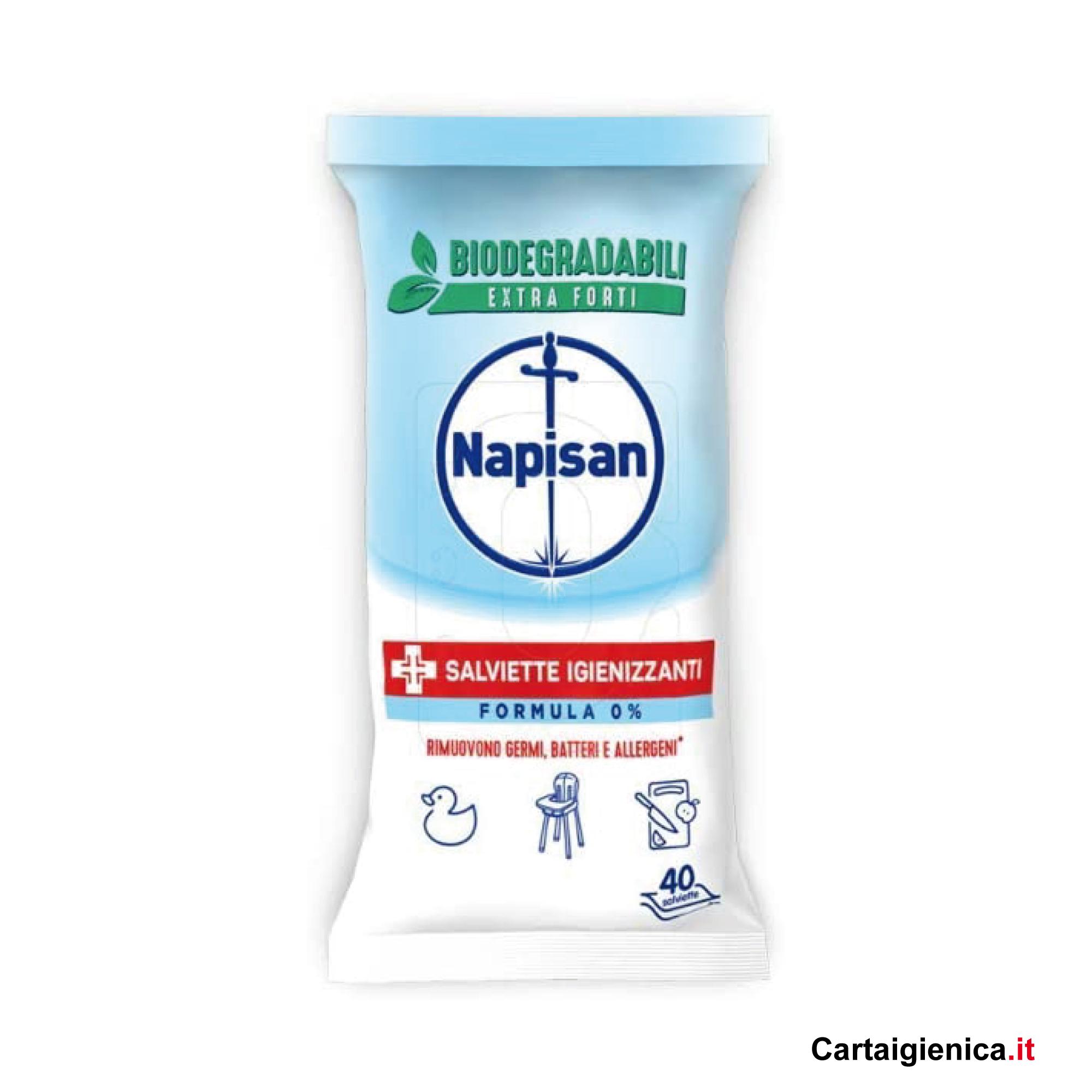 napisan salviette igienizzanti formula 0 rimuovono germi batteri allergeni