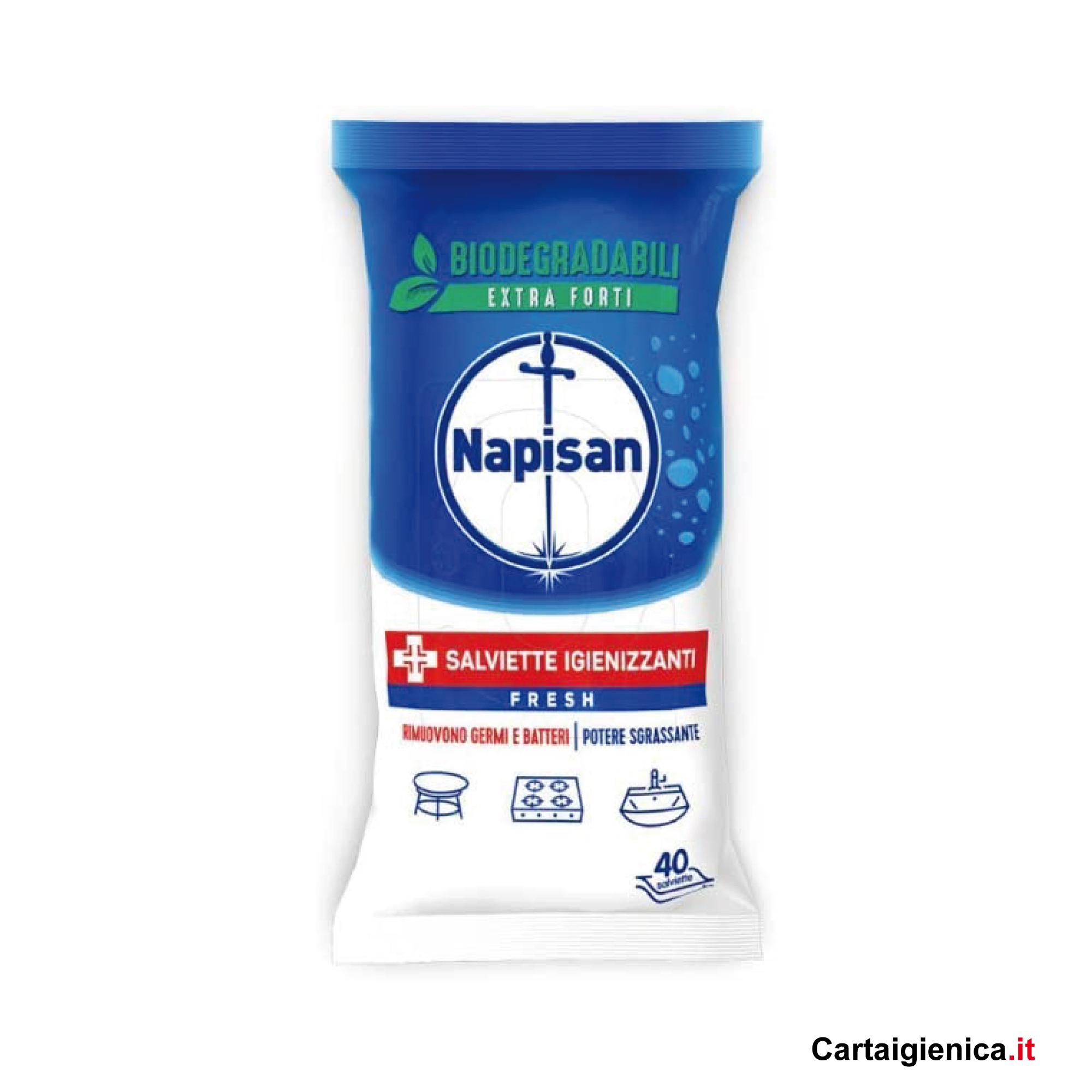 napisan salviette igienizzanti fresh rimuovono germi e batteri