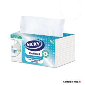 nicky defend asciugamano antibatterico monouso in scatola 100 pezzi