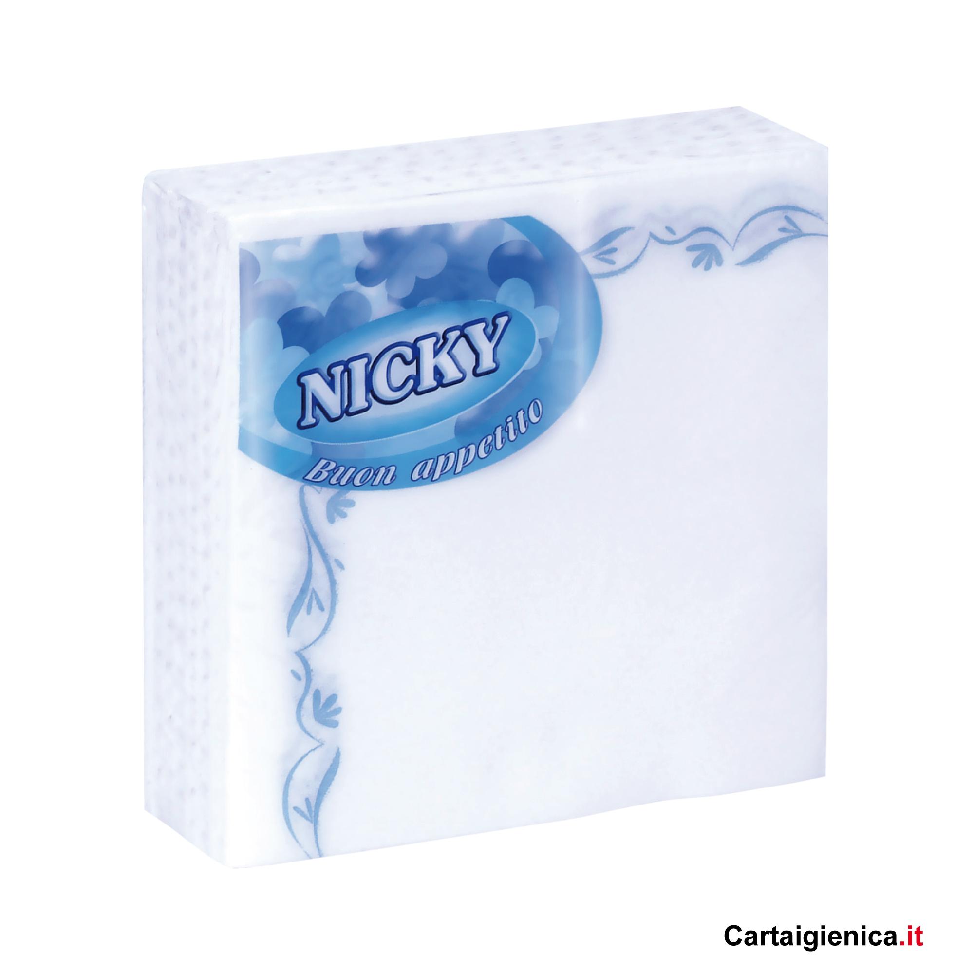 Nicky tovaglioli di carta buon appetito 38x38 1 pacco