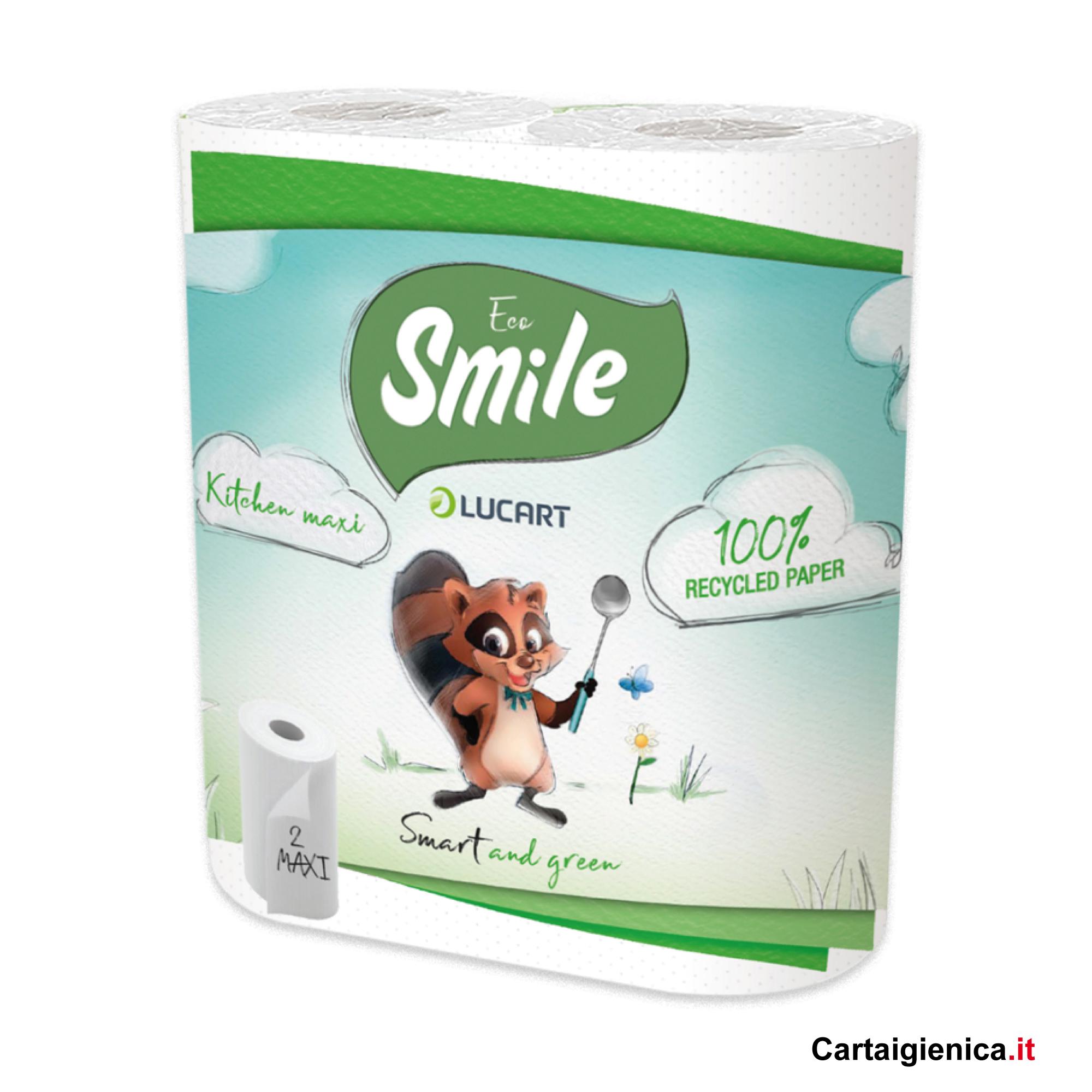 smile carta cucina 2 rotoli asciugatutto