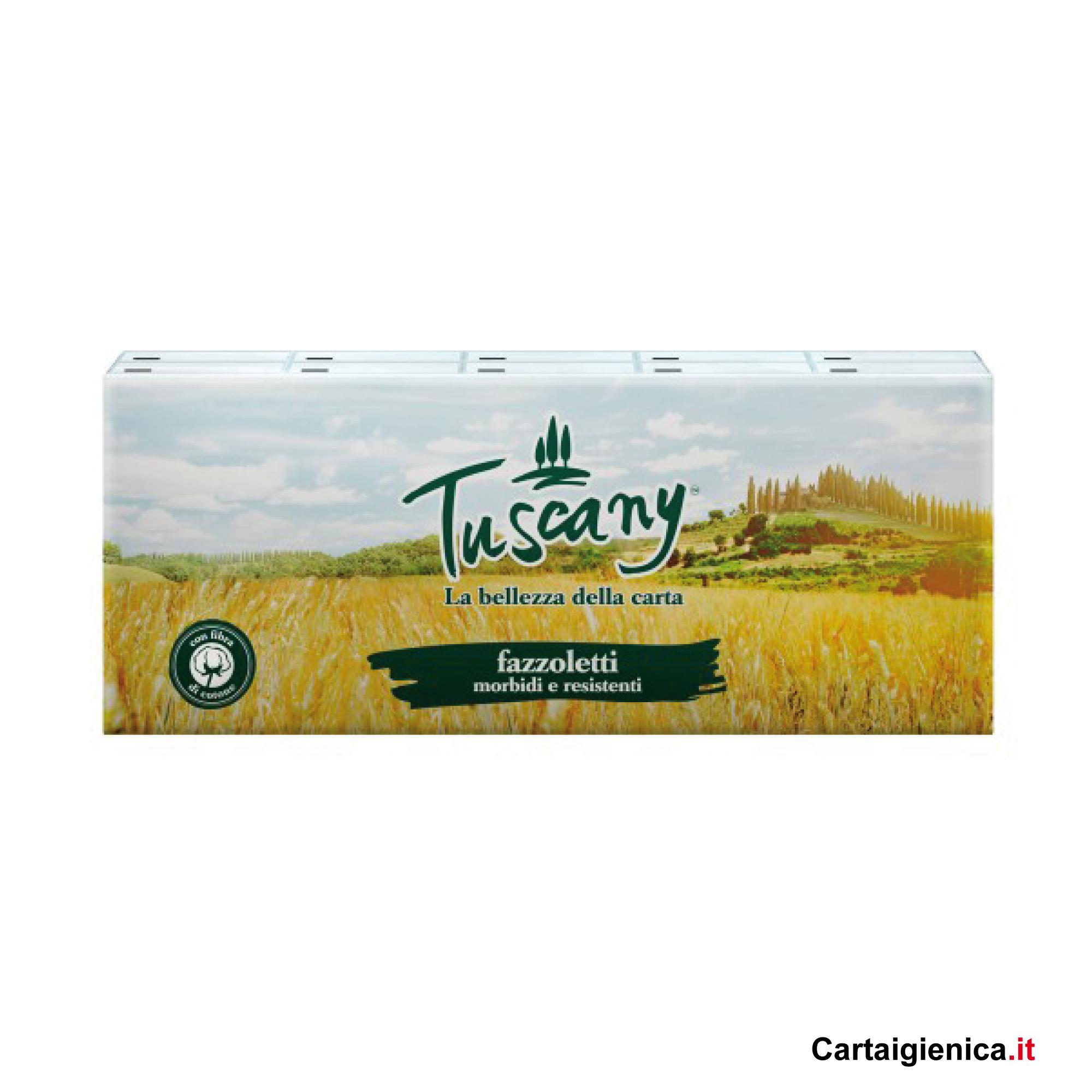 tuscany fazzoletti morbidi e resitenti 1 confezione 9 pacchetti