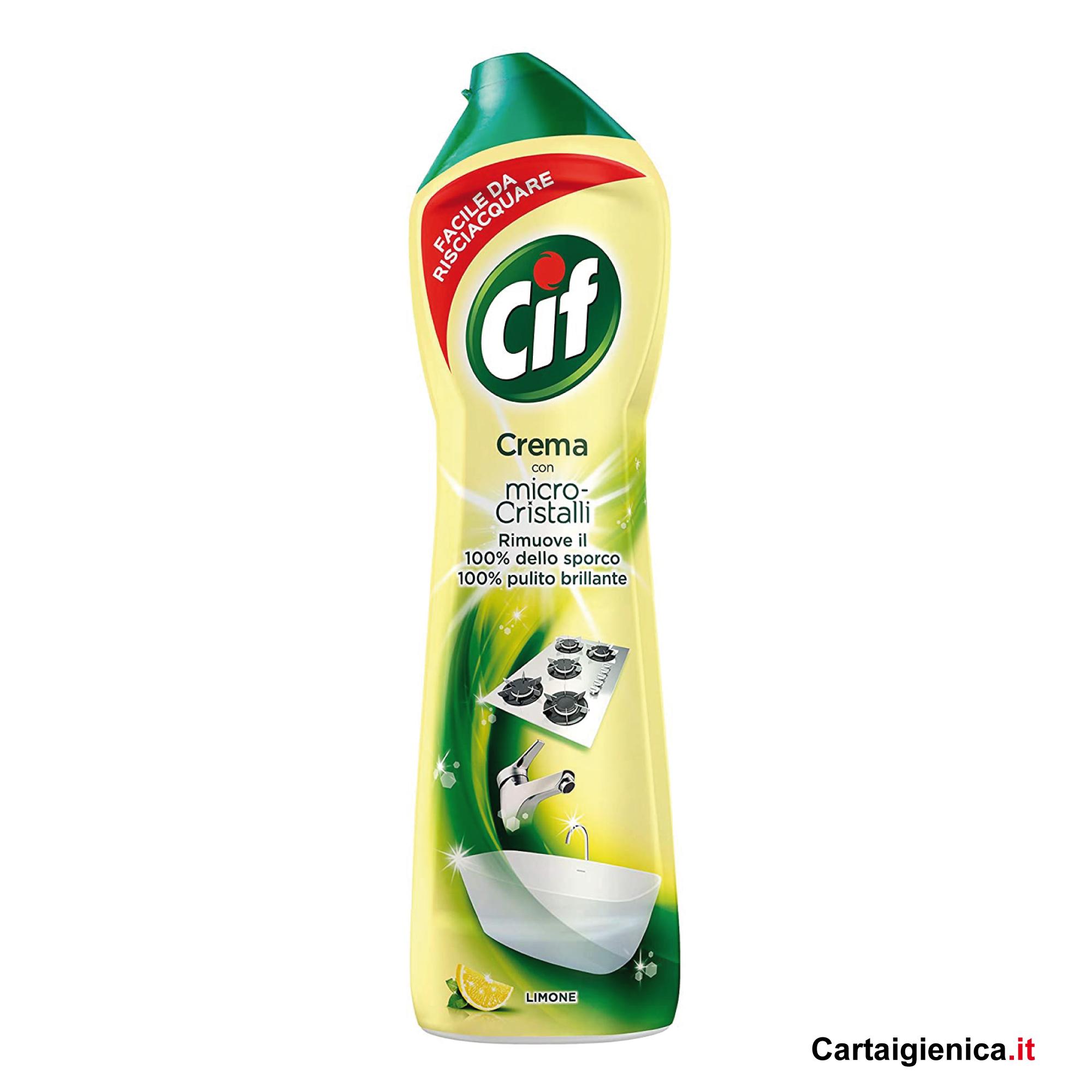 cif crema limone per pulizia al profumo limone 500 ml
