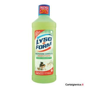 lysoform protezione completa disinfettante cedro e bergamotto 1250 ml