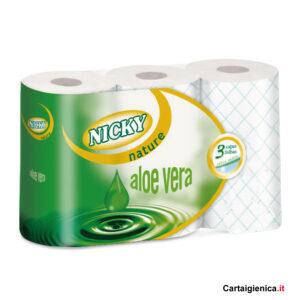nicky nature carta igienica aloe 6 rotoli 1 pacco