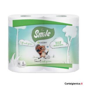 smile carta igienica eco 4 rotoli 1 pacco