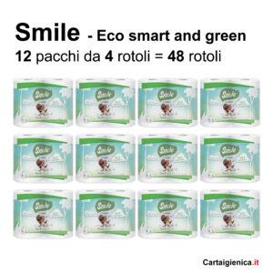 smile carta igienica eco 4 rotoli 12 pacchi