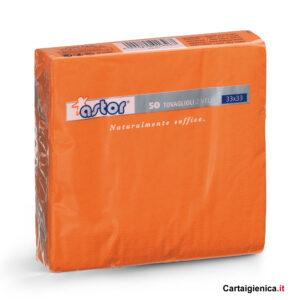 Astor 50 Tovaglioli Arancio 2 veli 33x33 cm