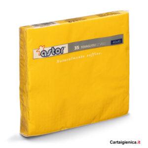 Astor 35 Tovaglioli colorati Giallo 40x40 1 pacco - 2 veli