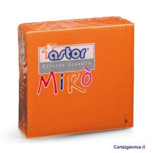 Astor 40 Tovaglioli Miro' Arancio 38x38 1 pacco - 2 veli