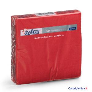 astor-50-tovaglioli-rosso-2-veli-33x33-cm-tovaglioli colorati per feste