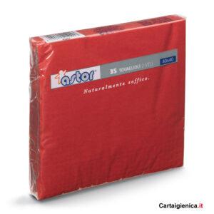 Astor 35 Tovaglioli colorati rosso 2 veli 40x40 cm
