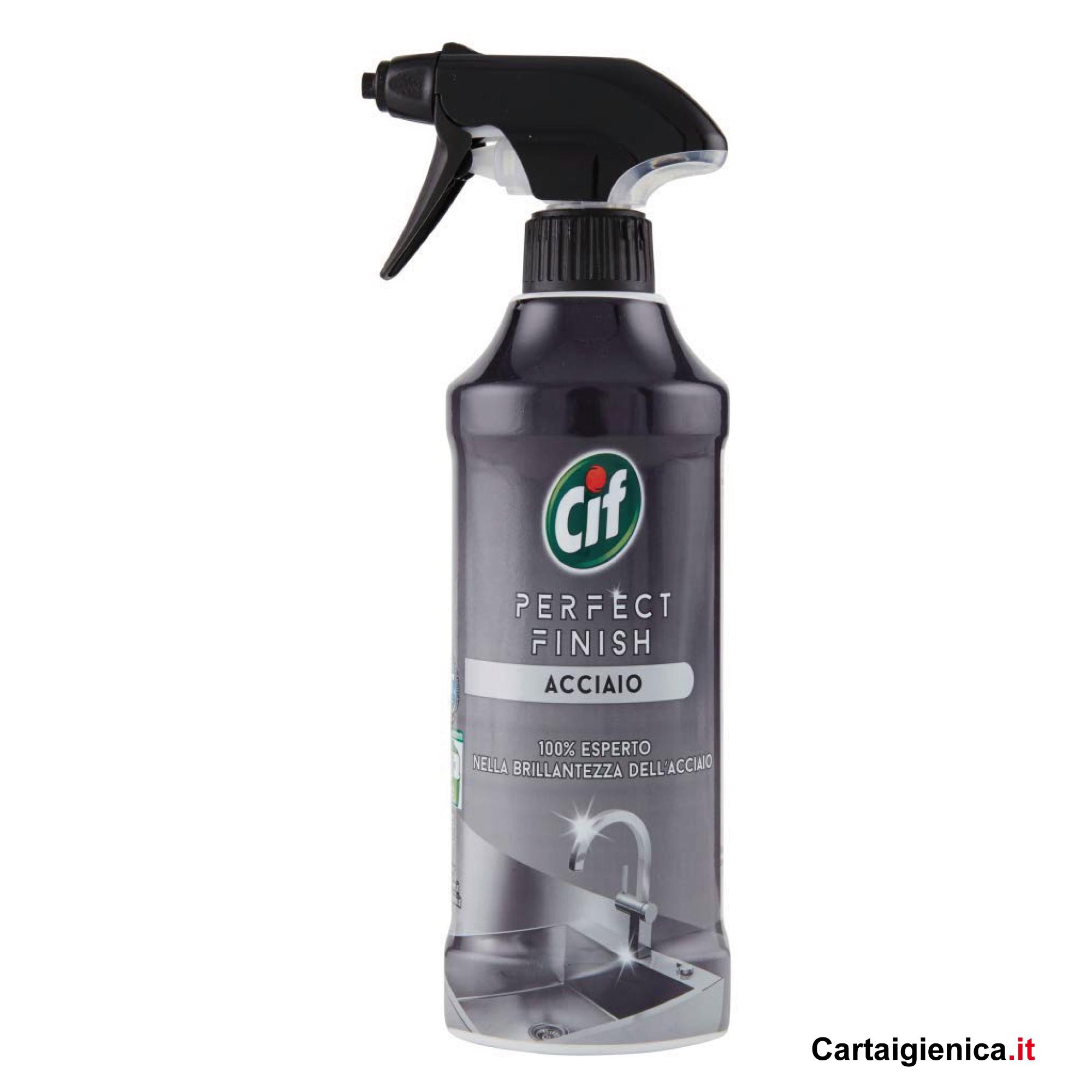cif perfect finish acciaio spray