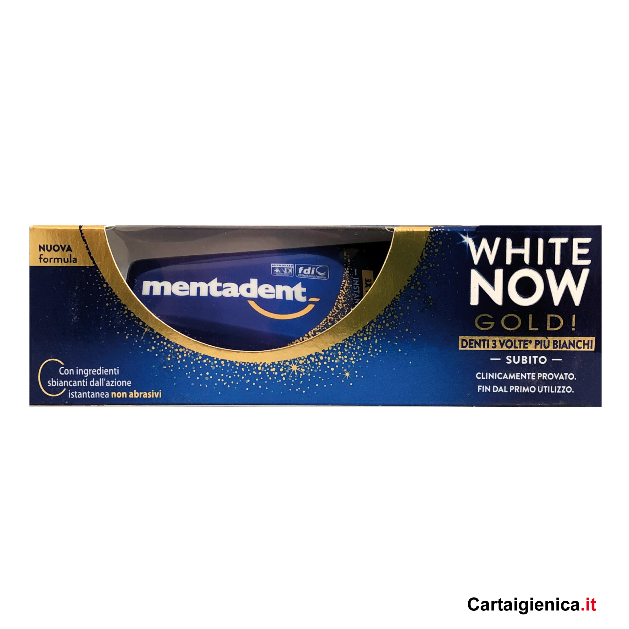Mentadent Dentifricio White Now Gold 50 ml