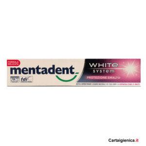 Mentadent Dentifricio White System Protezione Smalto 75 ml