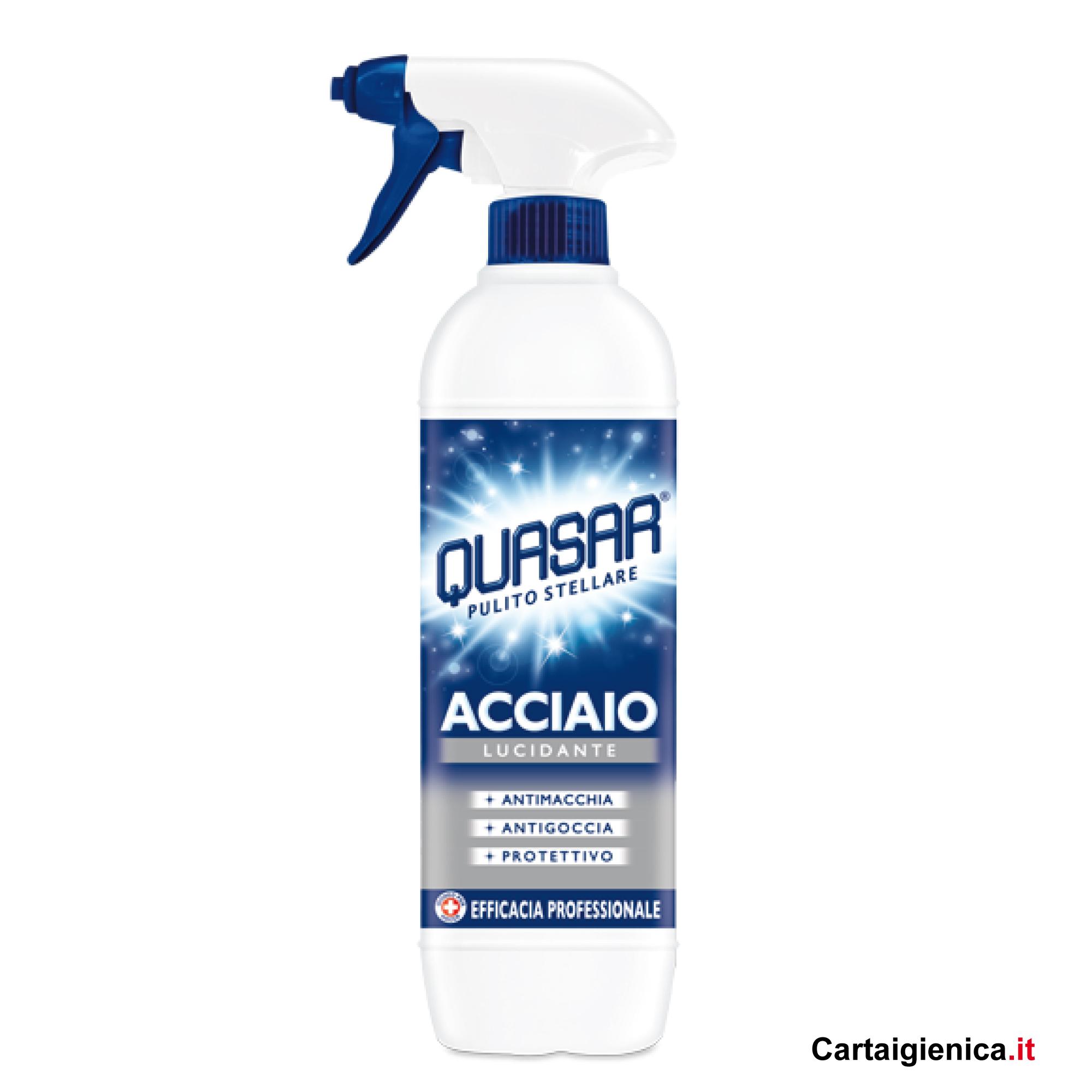 quasar acciaio spray 650 ml pulizia