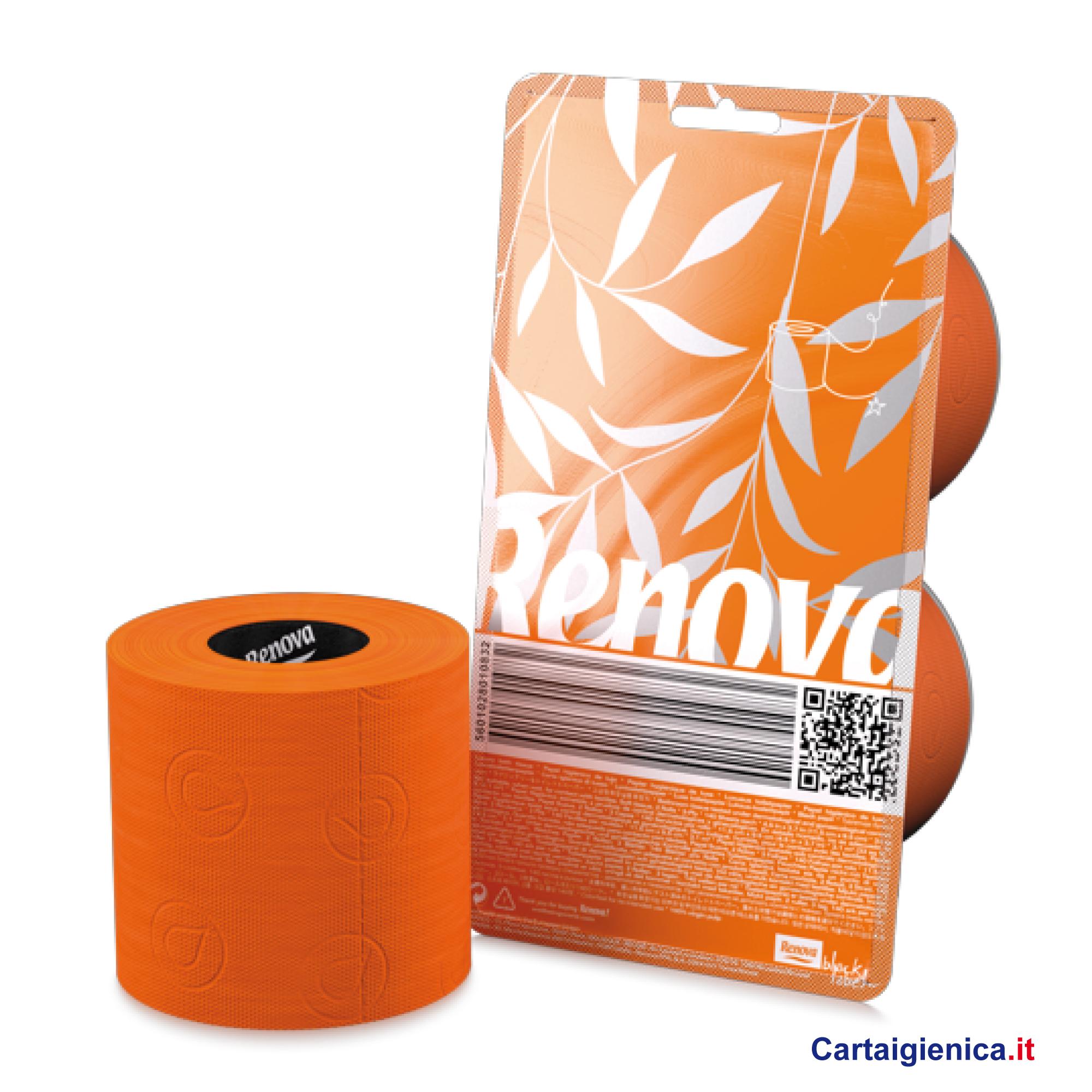renova carta igienica colorata arancio 2 rotoli cartaigienica.it