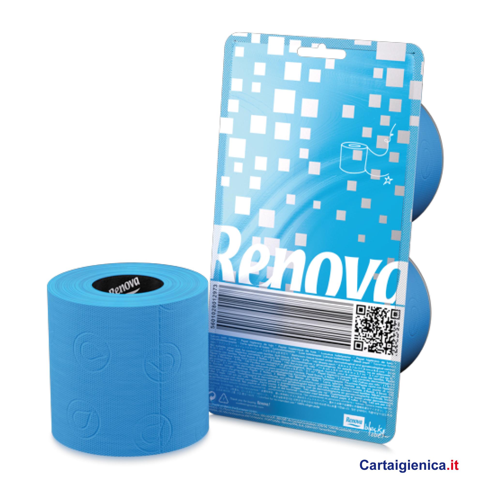 renova carta igienica colorata azzurro 2 rotoli cartaigienica.it