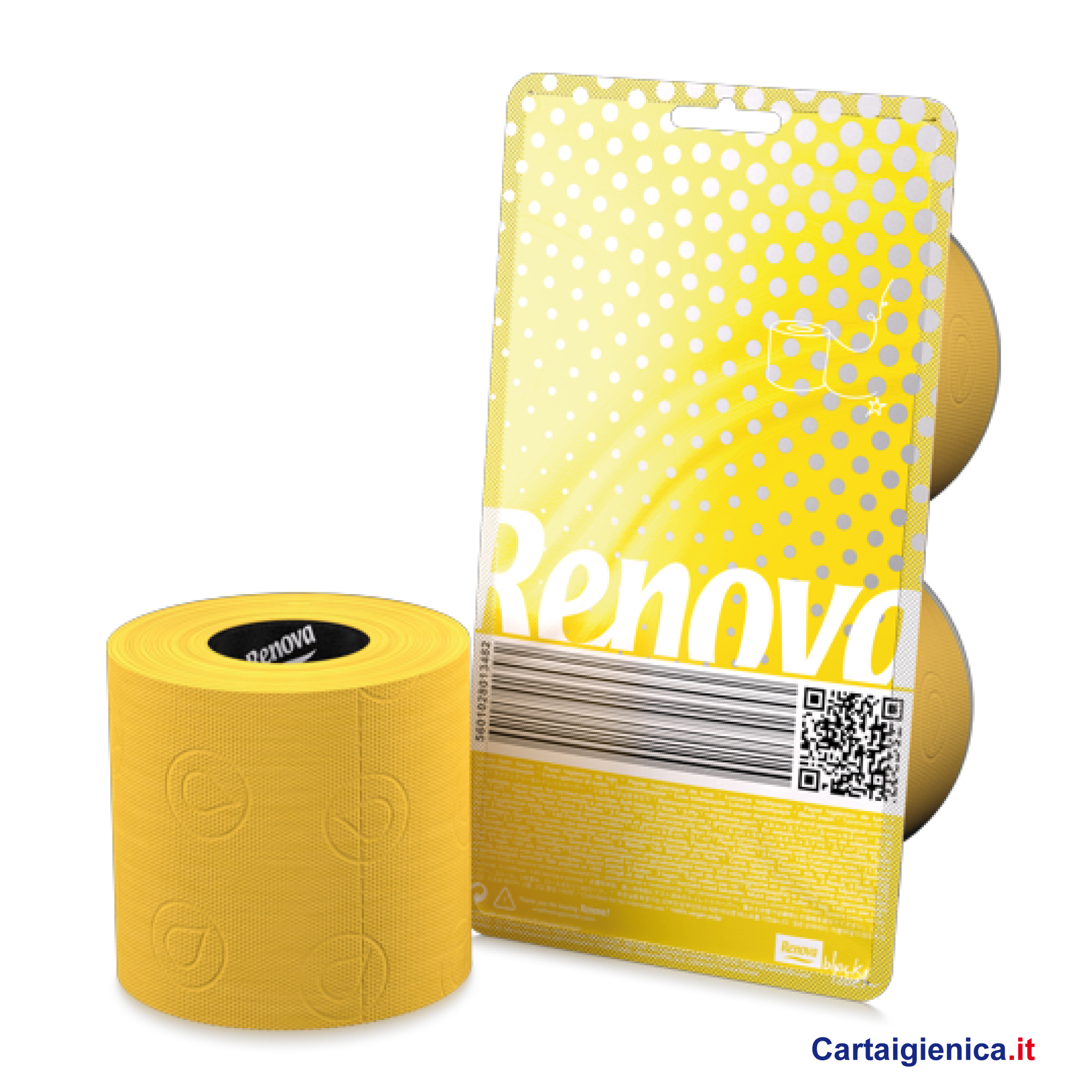 renova carta igienica colorata giallo 2 rotoli cartaigienica.it