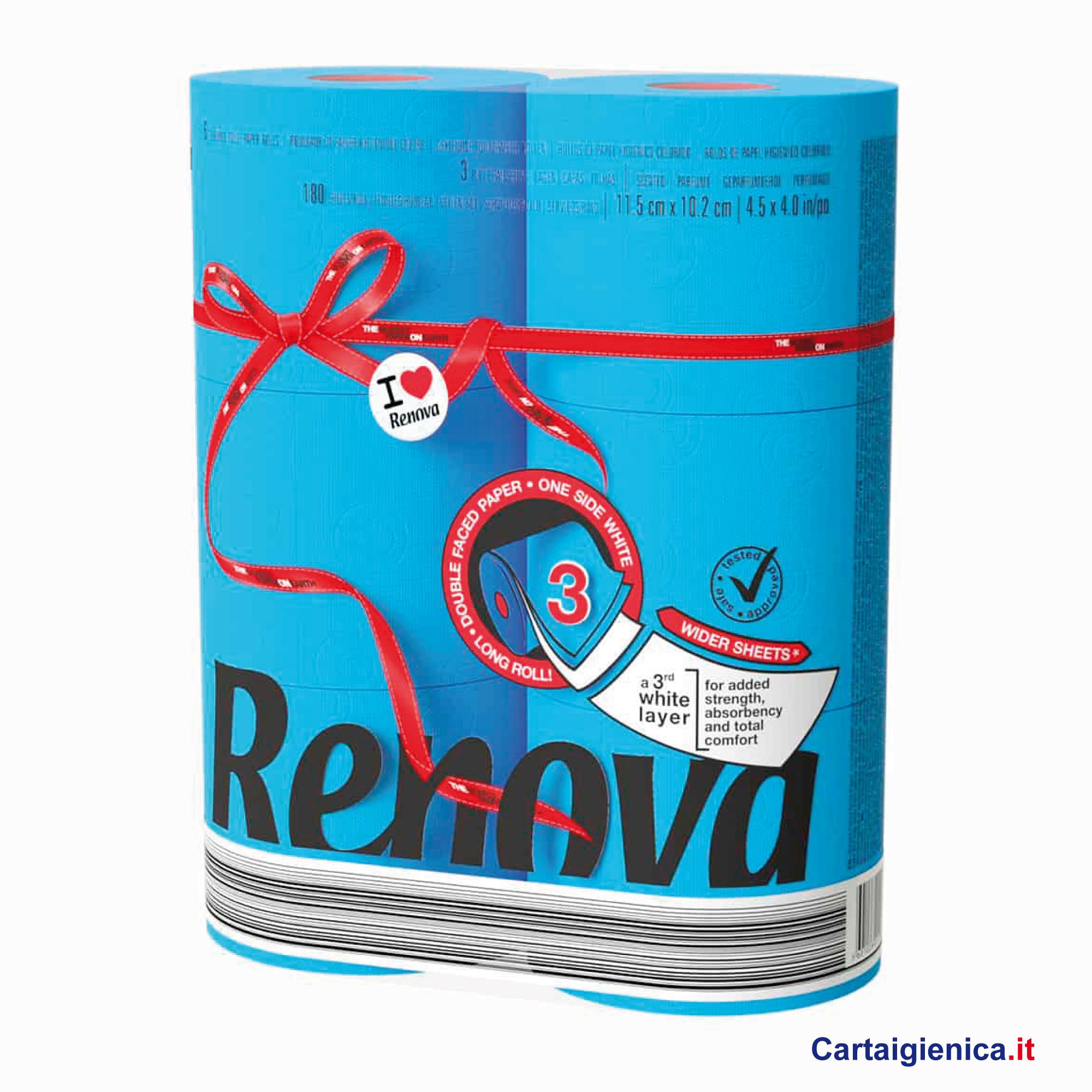 renova carta igienica colorata azzurro 6 rotoli cartaigienica.it