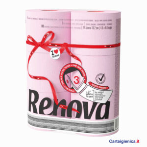 renova carta igienica colorata rosa 6 rotoli cartaigienica.it