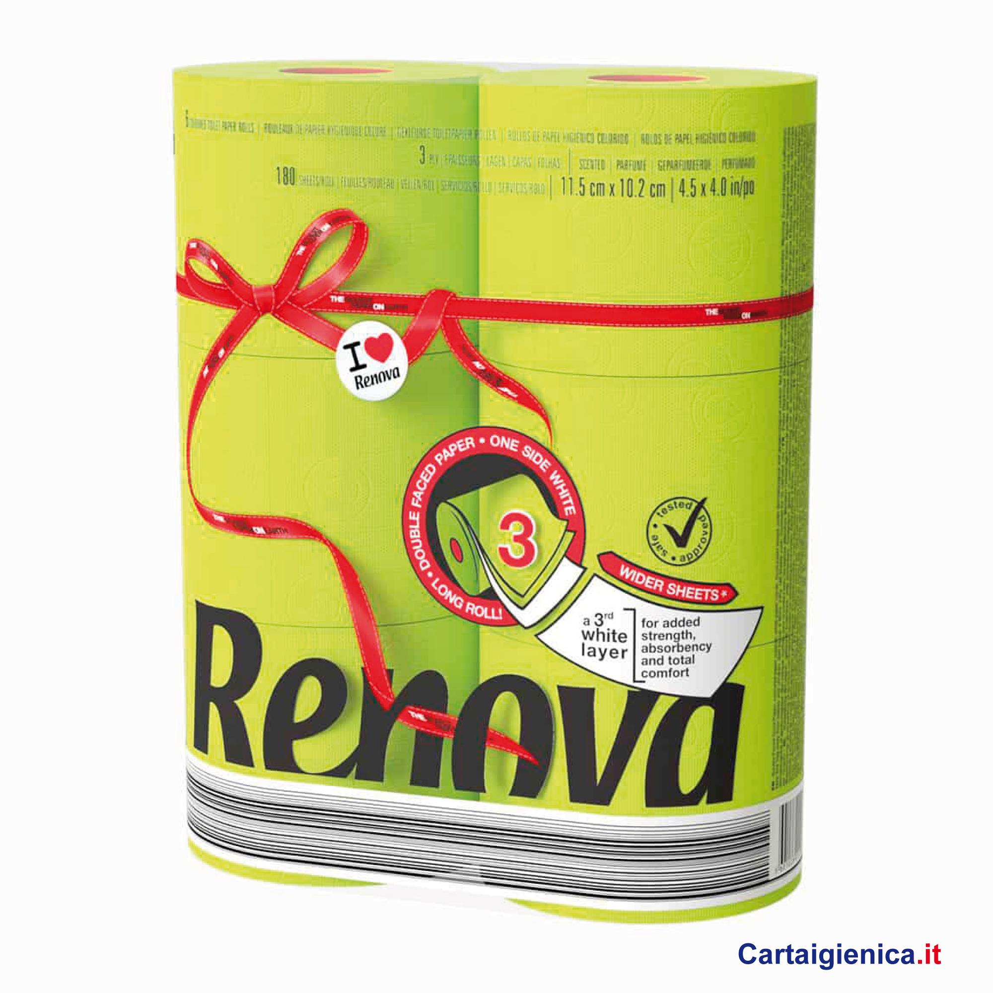renova carta igienica colorata verde 6 rotoli cartaigienica.it