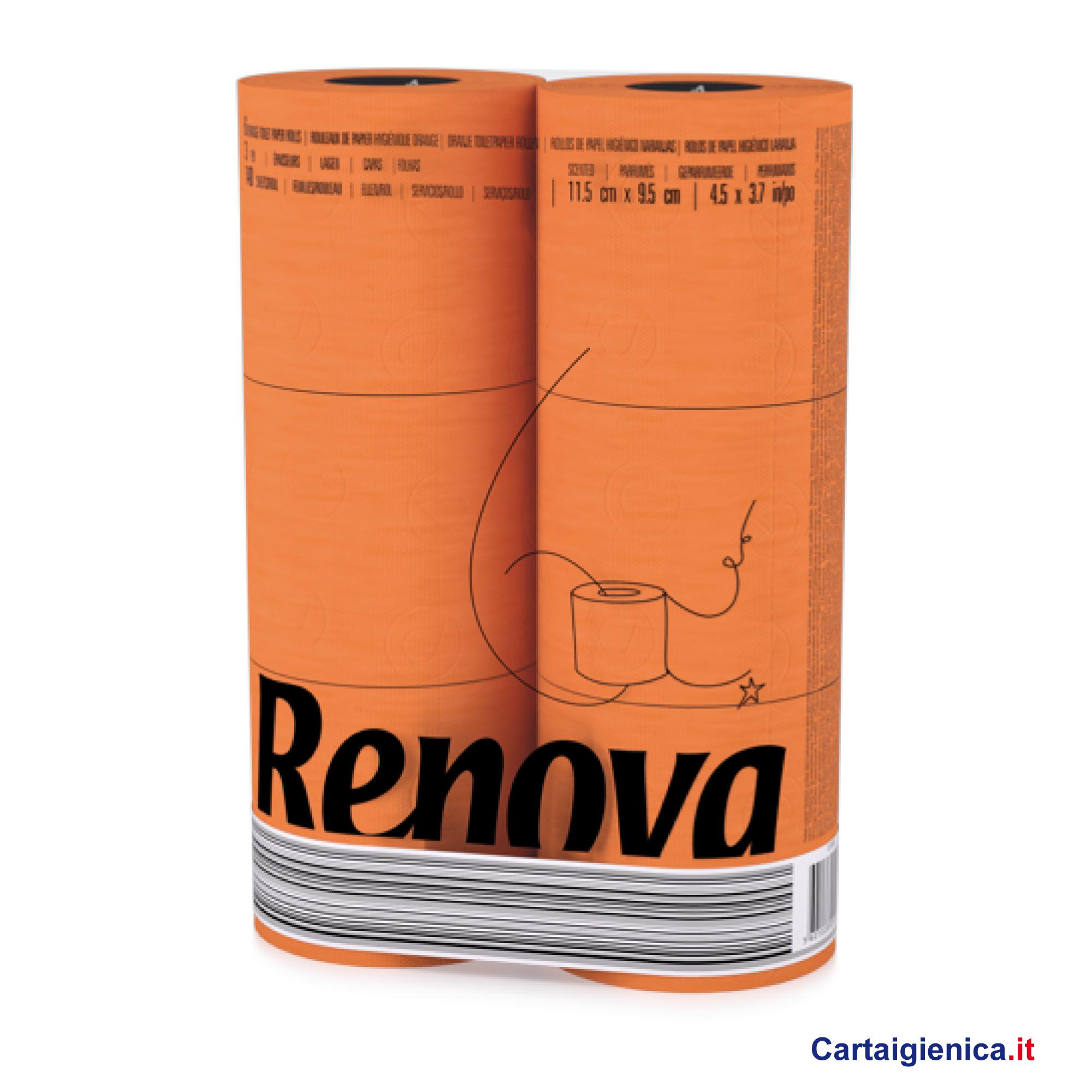 renova carta igienica colorata arancio 6 rotoli cartaigienica.it
