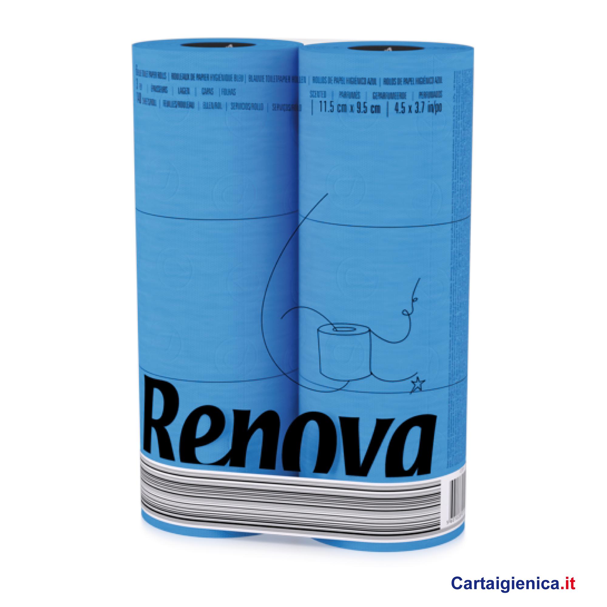 renova carta igienica colorata azzurra 6 rotoli cartaigienica.it