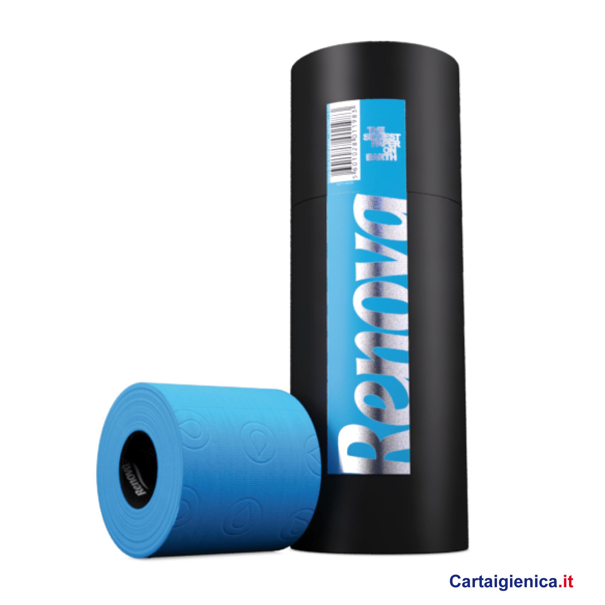 renova carta igienica colorata azzurra tubo 3 rotoli cartaigienica.it